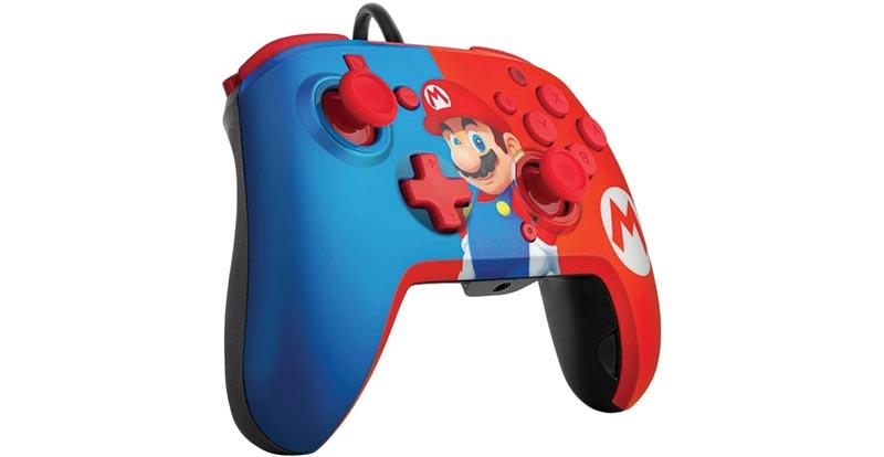 Faceoff Controller Deluxe + Audio for Nintendo Switch (Mario)