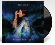 Album cover artwork for Natalie Imbruglia with black vinyl record popping out