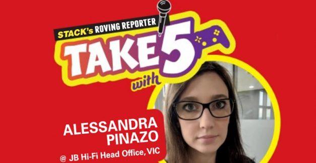 Take 5 games – Alessandra Pinazo at JB head office