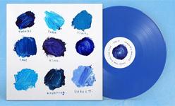 Album cover artwork for Courtney Barnett with blue vinyl record popping out