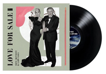 Album cover artwork for Tony Bennett and Lady Gaga with black vinyl record popping out