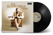 Album cover artwork for Gurrumul with black vinyl record popping out