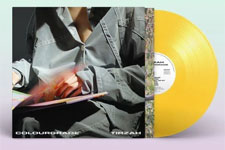 Album cover artwork for Tirzah with yellow vinyl record popping out