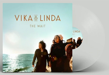 Album cover artwork for Vika & Linda with clear vinyl record popping out