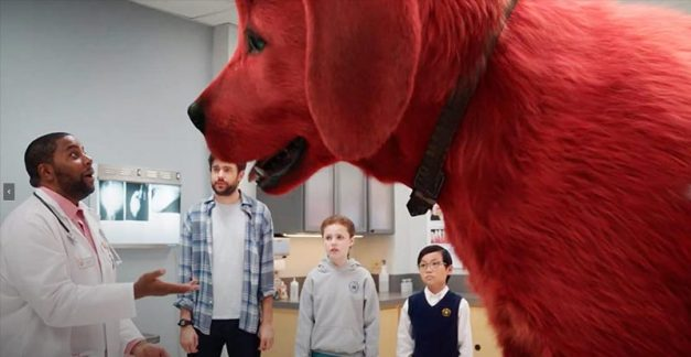 Clifford the Big Red Dog is red-red-ready for his close-up