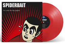 Album cover artwork for Spiderbait with red vinyl record popping out