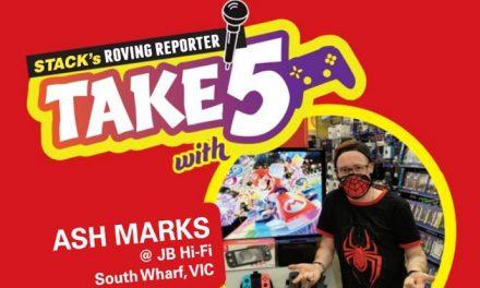 Take 5 games – Ash Marks at JB Hi-Fi South Wharf