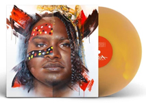 Album cover art for Baker Boy with gold vinyl record popping out