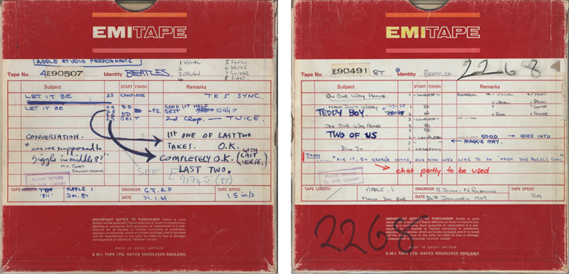 Let It Be studio tapes