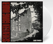 ALbum cover artwork for Sam Fender with clear vinyl record popping out